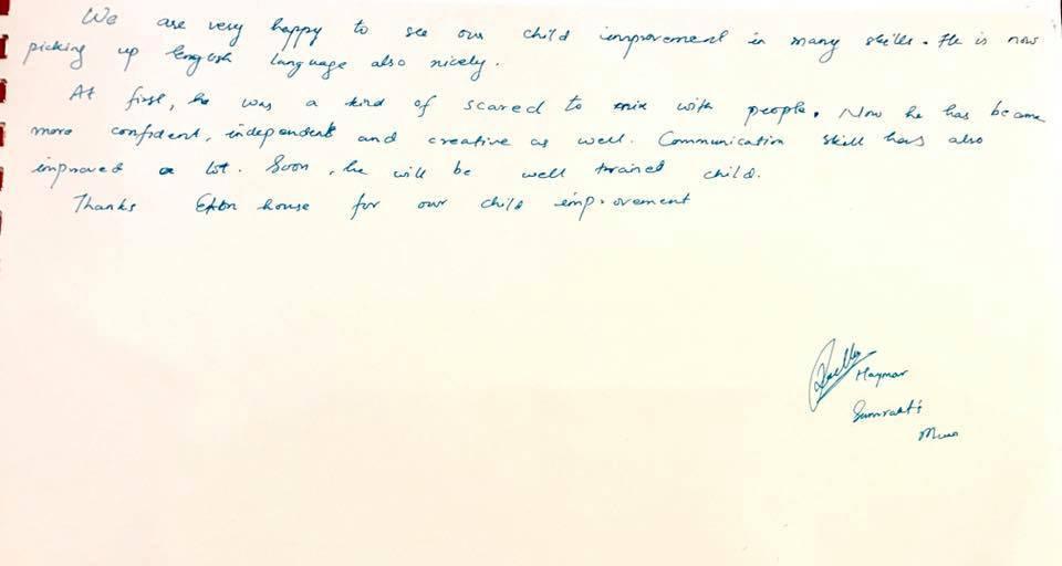 Samraat's testimonial